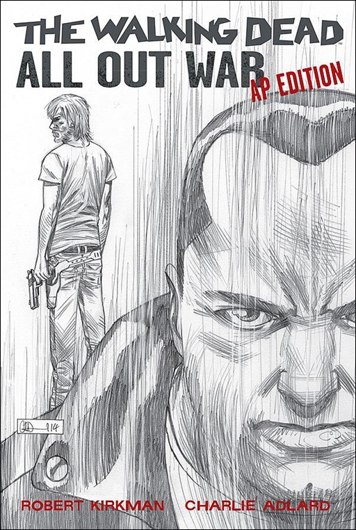 The Walking Dead: All Out War Artist Proof Edition Cover