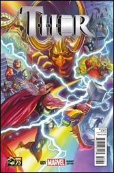 Thor #1 Cover - Ross 75th Anniversary Variant