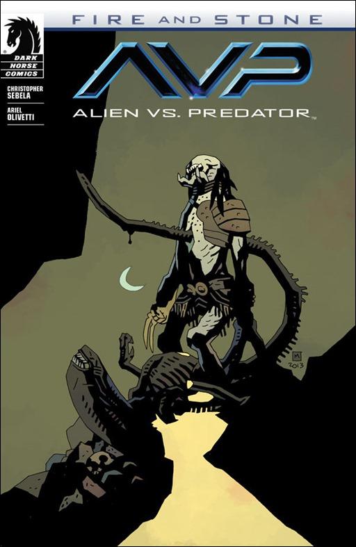 ALIEN VS. PREDATOR: FIRE AND STONE #1 - Mignola Variant Cover