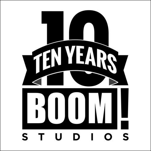 BOOM! Studios 10 Years Trade Dress Logo