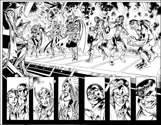 Avengers: Ultron Forever #1 Interior inked art preview