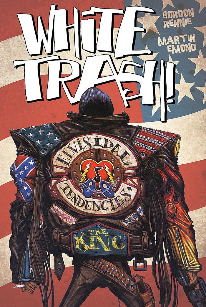 Comic Book Cover Art For Sale ~ Preview white trash gn by rennie emond