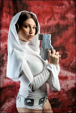 PrettyWreck Cosplay as Princess Leia (Photo by Dockrell Photography)