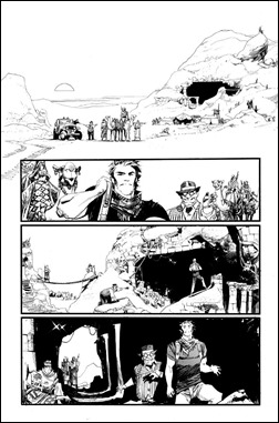 Chrononauts #1 Preview 1 inks