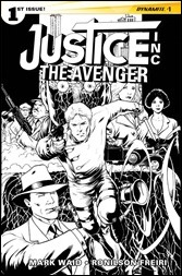 Justice, Inc.: The Avenger #1 Cover - Kitson (Black & White)