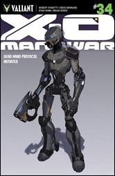 X-O Manowar #34 Cover - Molina Variant