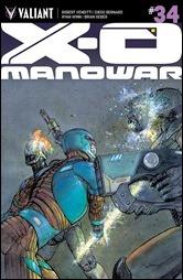 X-O Manowar #34 Cover - Pastoras Variant