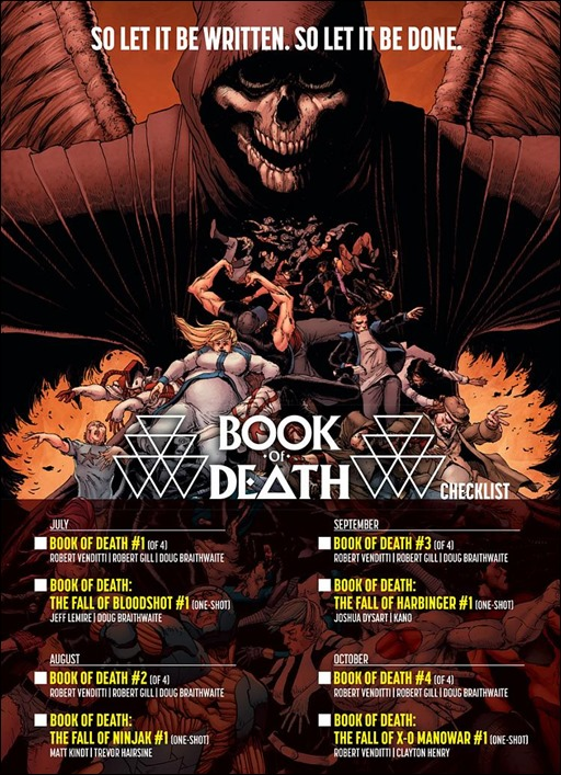Book of Death #1 - Checklist