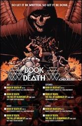Book of Death #1 Checklist