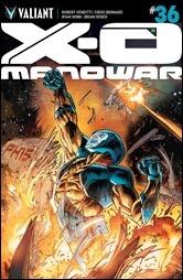 X-O Manowar #36 Cover - Segovia Variant