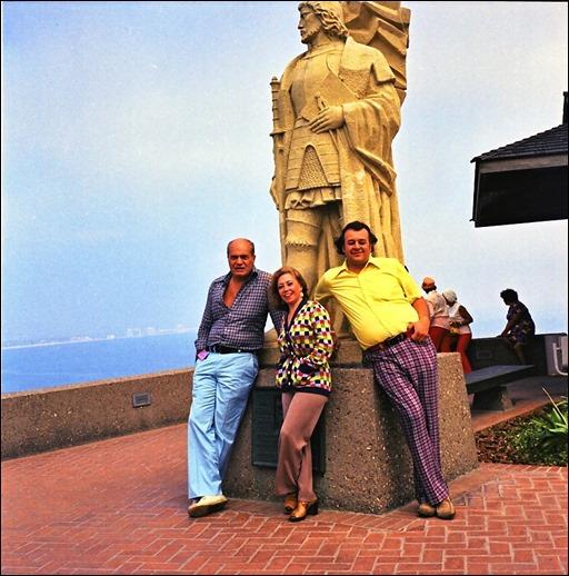 Carmine Infantino (left), June Foray, and Shel Dorf at Cabrillo National Monument