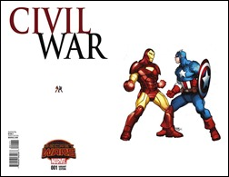 Civil War #1 Cover - Ferry Ant-Sized Variant