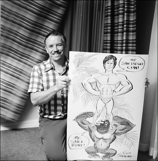Russ Manning (with drawing of Tarzan)