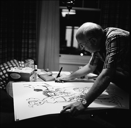 Brad Anderson (with drawing of Marmaduke)