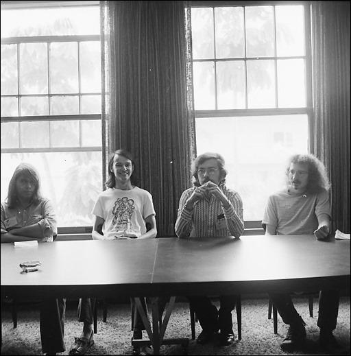 Star*Reach Panel - From left, Frank Brunner, Mike Friedrich, Don Glut, and Tom Orzechowski