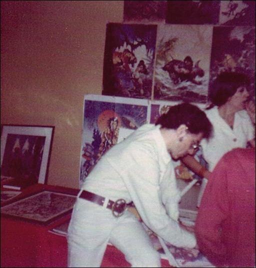 Jim Steranko promoting his graphic novel - Chandler