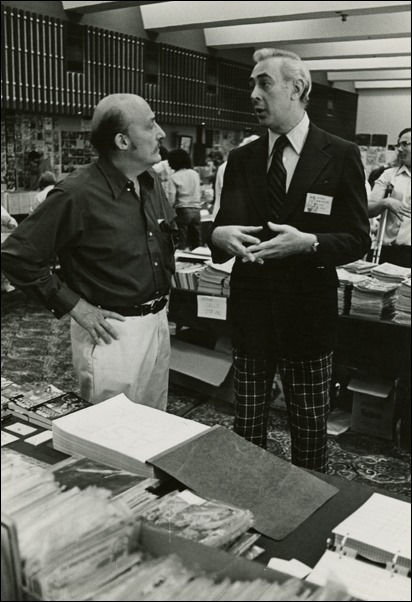 Will Eisner & Gil Kane at Comic-Con's Dealers Room at the El Cortez in 1975