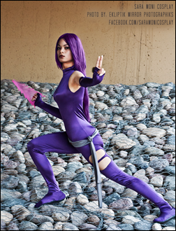 Sara Moni as Dark Angel Saga Psylocke (Photo by Ekliptik Mirror Photographiks)
