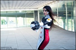 Sara Moni as Omega Sentinel (Photo by Happened Once Studios)