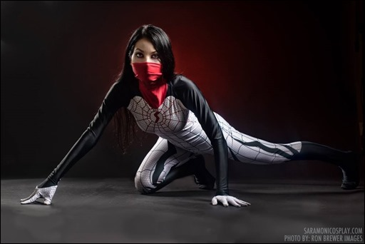Sara Moni as Silk (Photo by Ron Brewer Images)