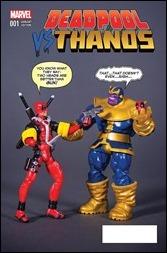 Deadpool vs. Thanos #1 Cover - Action Figure Variant