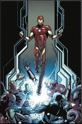 Invincible Iron Man #1 Cover - Schiti Variant