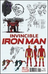 Invincible Iron Man #1 Cover - Marquez Design Variant