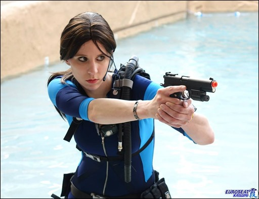 Sheikahchica Cosplay as Jill Valentine (Revelations Wetsuit) (Photo by Eurobeat Kasumi Photography)