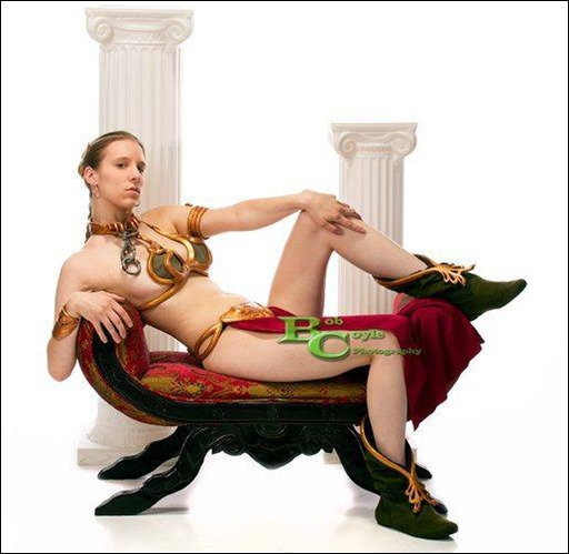 Sheikahchica Cosplay as Princess Leia (Slave) Version 2.0 (Photo by Bob Coyle Photography)