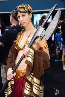 Sheikahchica Cosplay as Princess Leia (Sandstorm Garb) (Photo by unkown)