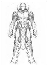NINJAK #10CHARACTER DESIGN - NINJAK (DEADSIDE ARMOR) BY TREVOR HAIRSINE