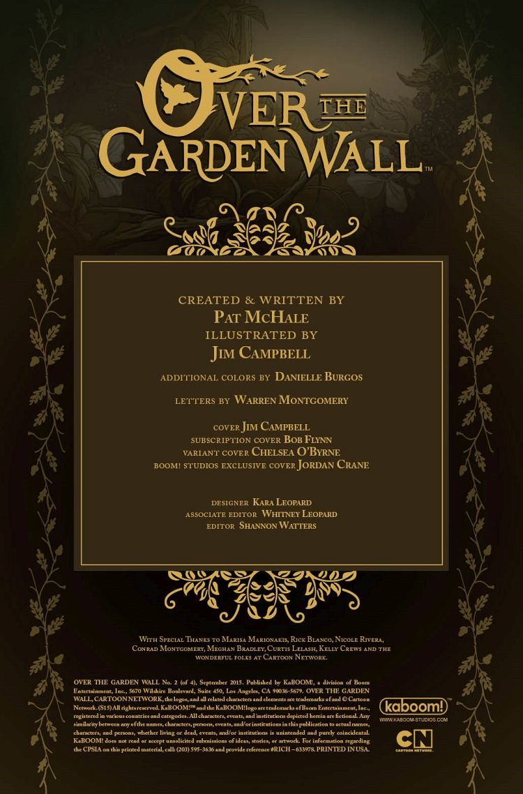 Preview Over The Garden Wall 2 By Mchale Campbell