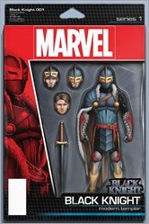 Black Knight #1 Cover - Christopher Action Figure Variant