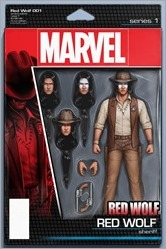 Red Wolf #1 Cover - Christopher Action Figure Variant