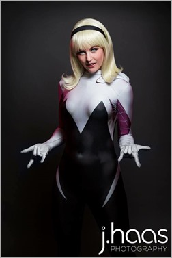 Maid of Might as Spider Gwen (Photo by John Haas Photography)