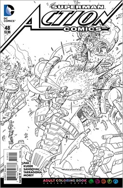 Action Comics #48 Adult Coloring Book Variant
