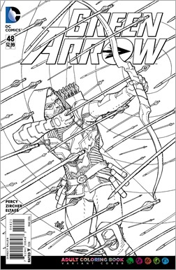 Green Arrow #48 Adult Coloring Book Variant