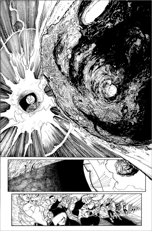 An interior black and white page for GREEN LANTERN CORPS: EDGE OF OBLIVION Issue #1 by Van Sciver
