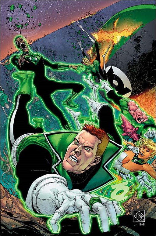 Cover to GREEN LANTERN CORPS: EDGE OF OBLIVION #2 by Van Sciver