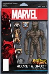 Rocket Raccoon & Groot #1 Cover - Christopher Action Figure Variant