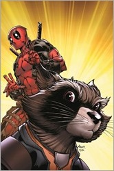 Rocket Raccoon & Groot #1 Cover - Nauck Deadpool Variant