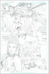 Poison Ivy: Cycle of Life and Death #1 splash page 10 pencils by Clay Mann