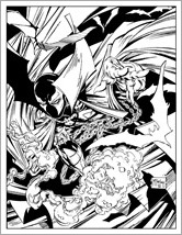 Spawn Adult Coloring Book Preview 1