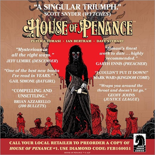 House of Penance #1 ad sheet