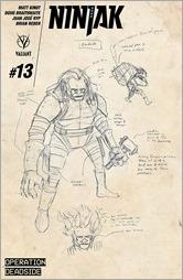 Ninjak #13 Cover - Kindt Design Variant