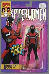 Spider-Women Alpha #1 Cover - Christopher Action Figure Variant