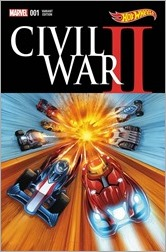 Civil War II #1 Cover - Hot Wheels Variant