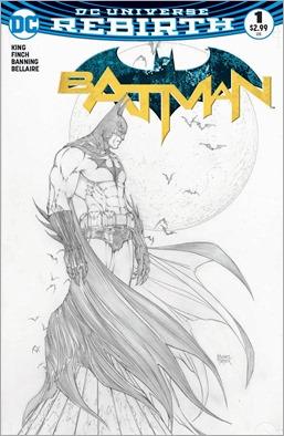 Rebirth: Batman #1 Cover - Aspen Comics Michael Turner Exclusive Sketch Variant