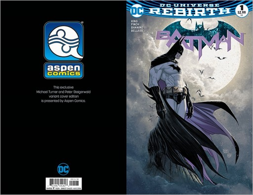 Rebirth: Batman #1 Cover - Aspen Comics Michael Turner Exclusive Variant