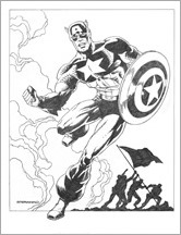Civil War II #7 - Steranko Variant Black and White